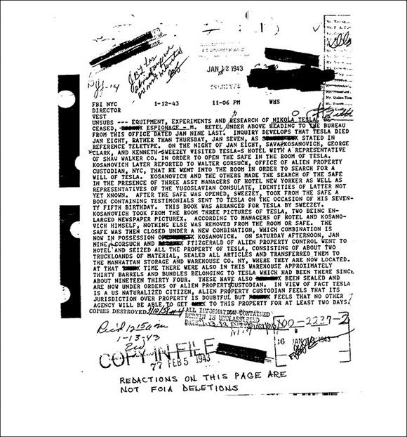 """FBI revela arquivos secretos sobre Nikola Tesla e seu """"raio da morte"""" - 1"""