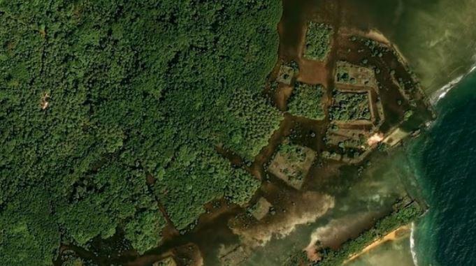 Resultado de imagem para encontradas ruinas de civilização no pacifico