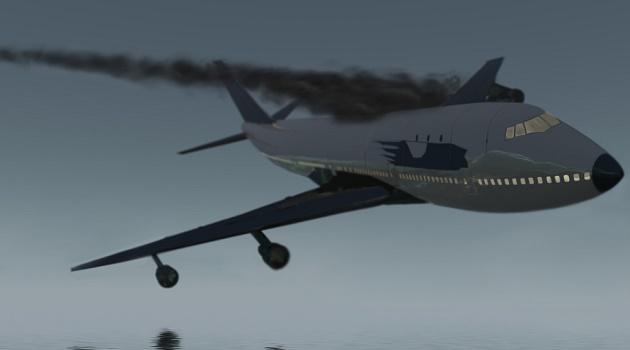 agora; Avião cai com mais de cem pessoas a bordo