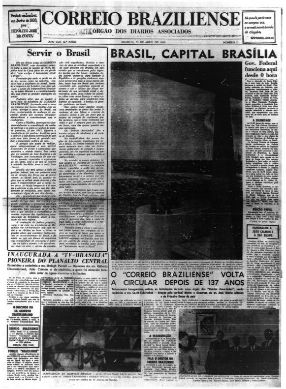 Principais jornais exaltavam inauguração de Brasília - 2