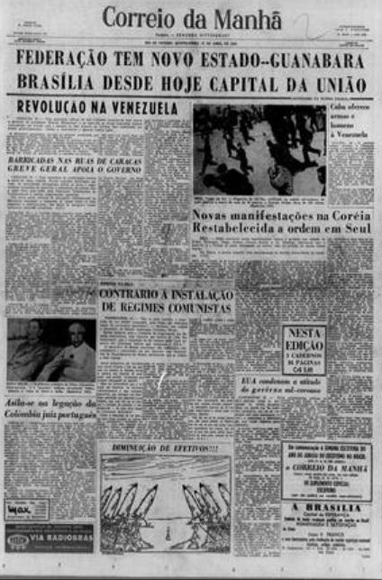 Principais jornais exaltavam inauguração de Brasília - 8