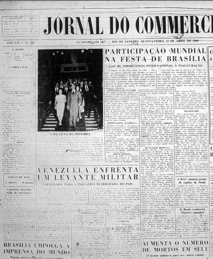 Principais jornais exaltavam inauguração de Brasília - 5