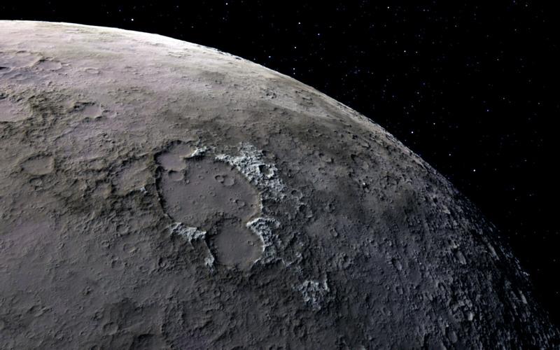 Encuentran en la Luna una fuente de combustible y aire