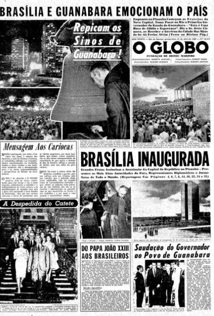 Principais jornais exaltavam inauguração de Brasília - 3
